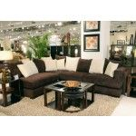 Jackson Furniture - Axis Chocolate Chenille 2 Piece Sofa Sectional Sofa with Ottoman - 4429-36-62-SEC