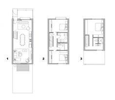 Image 9 of 12 from gallery of Flexhouse / Interface Studio Architects + Sullivan Goulette & Wilson. Small House Plans, House Floor Plans, Site Plan Drawing, Tiny House Layout, Japan Architecture, Floor Plan Layout, Narrow House, Tower House, Apartment Plans