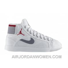 d5a5f29a5e6687 Air Jordan Sky High Canvas White Varsity Red Cement Grey 407282-101  Christmas Deals