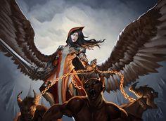  Facebook Patreon Tumblr Twitter Artstation Tapastic  Character in myindie comicGhostBlade, angel Princess Sarlia...