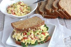 """<p>Probably one of the most Southern palate pleasing sandwiches I've seen - egg salad + BLT. Get the recipe <a href=""""http://www.twohealthykitchens.com/2015/04/09/blt-egg-salad/"""" target=""""_blank"""">here</a>.</p>"""