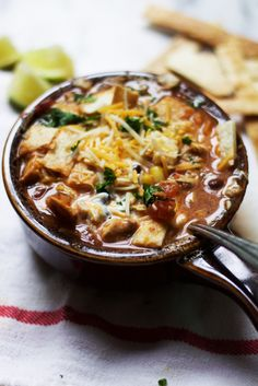Slow Cooker Chicken Tortilla Soup from The Baker Chick....This sounds delicious and her posts/blog are great!