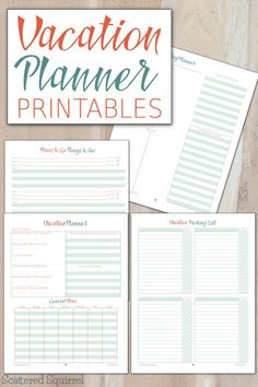 These vacation planner printables will help make planning your next vacation a breeze. http://scatteredsquirrel.com/2015/06/vacation-planner-printables-plan-the-details-focus-on-the-fun/