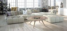 "Avi Fedida : : Design Studio - ""Grit"" large coffee table - Ø120cm H44cm"