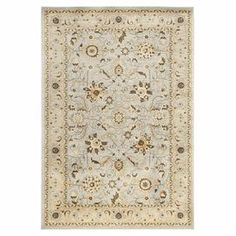 Rug in grey and ivory with a floral motif. Made in India.   Product: RugConstruction Material: PolypropyleneColor: MultiFeatures: Made in India Note: Please be aware that actual colors may vary from those shown on your screen. Accent rugs may also not show the entire pattern that the corresponding area rugs have.Cleaning and Care: Blot spills immediately. Professional cleaning recommended.