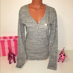 NEW PINK VS HENLEY SLEEP SHIRT NWT PINK VICTORIA'S SECRET  LONG SLEEVE HENLEY SHIRT, SO COMFY!  COLOR GRAY   SIZE L   FAST SHIPPING!!!      Check out my other items! I am sure you will find something that you will love it! Thank you for watch!!!!!   Be sure to add me to your favorites list PINK Victoria's Secret Intimates & Sleepwear