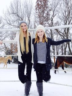 Me and my bestie in the snow!!!