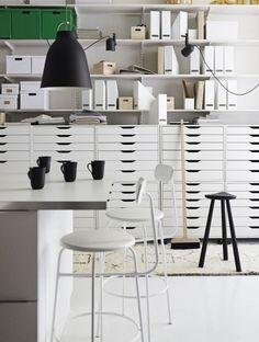 sorted white workspace