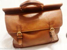 Vintage Executive Leather Briefcase, Business Case