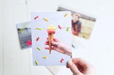 Persoonlijke geborduurde kaarten, leuk idee