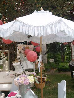 i want to do this with an umbrella love it Pink & White Delight, Delight, Delight! i want to do this with an umbrella love it Shade Umbrellas, Cute Umbrellas, Umbrellas Parasols, Outdoor Umbrellas, Buy Umbrella, Lace Umbrella, Under My Umbrella, Vintage Patio, Garden Inspiration