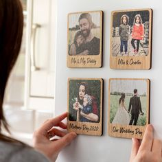 Personalised Photo Magnet Oak Veneer by Mirrorin, the perfect gift for Explore more unique gifts in our curated marketplace. Diy Magnets, Photo Magnets, Jesus Gifts, Mather Day, Arte Country, Letterbox Gifts, Personalized Photo Gifts, Collage Frames, Christmas Mood