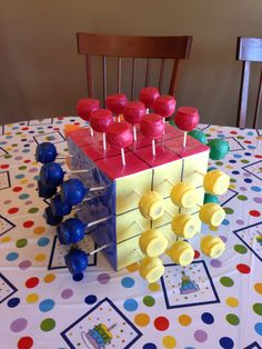 Rubik's Cube display for cake pops