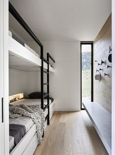 Studio Griffiths' two sleek entries into a major industry awards program, The Australian Interior Design Awards, have been shortlisted. Bunk Bed Rooms, Casa Loft, Built In Bunks, Interior Design Awards, Bunk Bed Designs, Interior Architecture, Small Spaces, New Homes, House Design