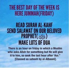 Happy Friday! Don't forget to read surah al-Kahf!