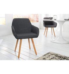 Fauteuil -Lot de 2 fauteuils design scandinave en tissu de couleur . a95b3fcb63c2