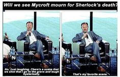 Mark Gatiss.<---he must be trolling...right??