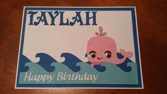 Birthday card using create a critter whale.