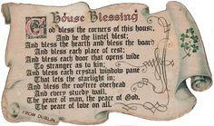 souvenir from dublin. House Blessing
