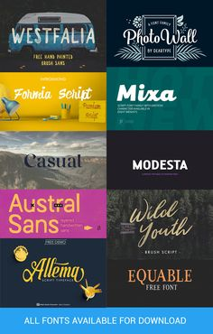 #Free #Fonts Compilation - Updated December 2016