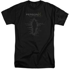 PERSON OF INTEREST/DIGITS-S/S ADULT TALL-BLACK