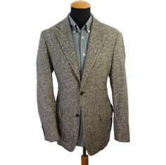 Men's Hugo Boss Blazer size 37R Gray Wool Stretch Unstructured Casual 2 Buttons #HugoBOSS #TwoButton