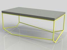 Tavolino rettangolare in cemento LA BÉTON RECTANGULAIRE - N | 123