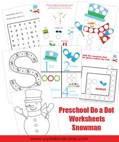 Do a dot, Preschool worksheets and Thanksgiving on Pinterest