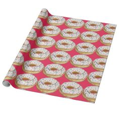Go Nuts with Donuts Wrapping Paper