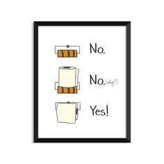 Toilet Paper Rules Funny Bathroom Humor Bathroom decor Home