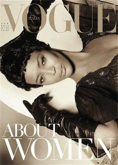 Naomi Campbell on the cover of Vogue Italia.