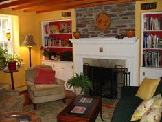 farmhouse living room decorating ideas | Farmhouse living, This is the livingroom/dining room of our 1804 ...