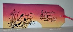 Serene Silhouette and Trust God Stampin' Up! stamp sets were used to create…