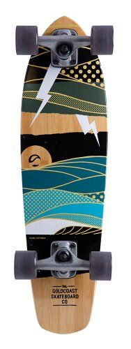 I love this deck!   Goldcoast Complete Longboard Skateboard (Salvo): Sports & Outdoors