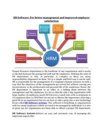 HR Software: For better management and improved employee satisfaction