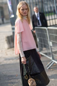 Street Style: Paris Fashion Week Spring 2014 - Hanne Gaby Odiele
