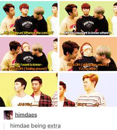 Youngjae is upset with Daehyun xD #daejae #himdae