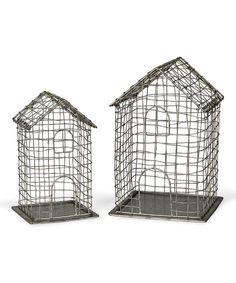 Metal House Birdcage Set by  #zulily #zulilyfinds