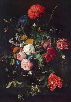 Jan Davidszoon de Heem. Flowers in a Vase. This painting was bought by Russian Empress Catherine the Great in 1768. It is now held by the Hermitage Museum