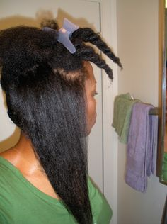 Many naturals protective style majority of the time (sometimes of the time or more) in order to retain length. It makes perfect sense. naturals, by definition, have strands that shr… Natural Hair Care Tips, Be Natural, Natural Hair Tips, Natural Hair Inspiration, Natural Hair Styles, Black Power, Natural Protective Styles, Pelo Afro, Black Hair Care