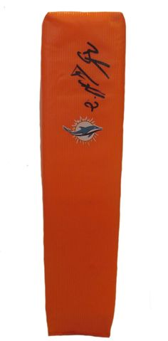 Brandon Fields signed Miami Dolphins full size football touchdown end zone pylon w/ proof photo.  Proof photo of Brandon signing will be included with your purchase along with a COA issued from Southwestconnection-Memorabilia, guaranteeing the item to pass authentication services from PSA/DNA or JSA. Free USPS shipping. www.AutographedwithProof.com is your one stop for autographed collectibles from Miami sports teams. Check back with us often, as we are always obtaining new items.