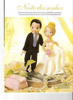 Emilidolls tutorial: Step by step cake topper bride and groom
