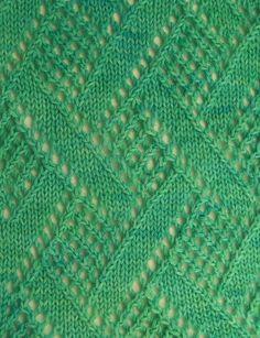 Resultado de imagen de knitting stitches patterns lace