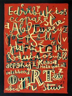 Serigrafía Tipografía de Javier Mariscal :: PicassoMio