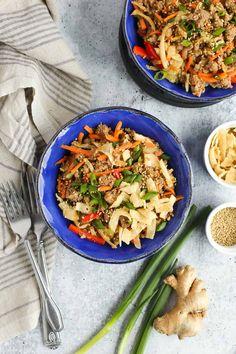 Healthy Weeknight Meals, Healthy Meal Prep, Quick Meals, Healthy Recipes, Recipes Using Pork Chops, Pork Recipes For Dinner, Pork Egg Rolls, Egg Roll Recipes, Recipe 30