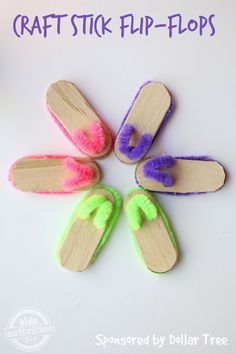 Craft Stick Flip-Flops - OR  could put magnets on the bottom and use on your fridge!