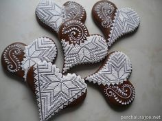 Perníky 2014 – Iva Palíková – album na Rajčeti Biscuits, Cakes And More, Cookie Decorating, Sugar Cookies, Gingerbread Cookies, Food Art, Xmas, Christmas, Food To Make