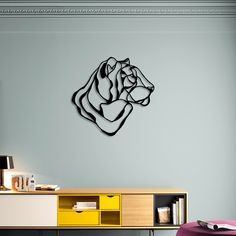 TIGER HEAD TROPHY wall sign by Tes-Ted for Hu2 X Born Free