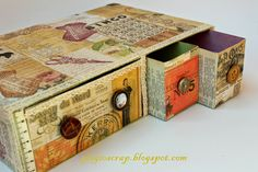 Cereal Box and tea boxes!  Who would have ever guessed?  Beautiful recycling project.