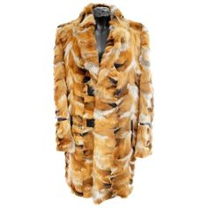 Preowned Roberto Cavalli Fox Fur Coat For Men ($7,500) ❤ liked on Polyvore featuring men's fashion, men's clothing, men's outerwear, men's coats, brown, coats, mens fur collar coat, mens fox fur coat, mens coats and mens brown coat